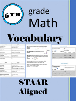 6th grade math vocabulary