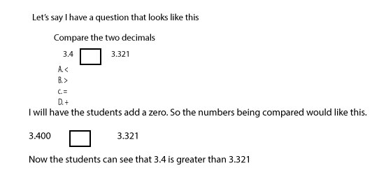 A simple trick to help with comparing decimals