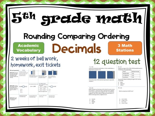 questions to help with comparing and ordering decimals